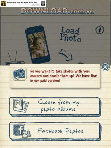 Doodle Booth HD Free foriPad-iPad用の写真編集ツール