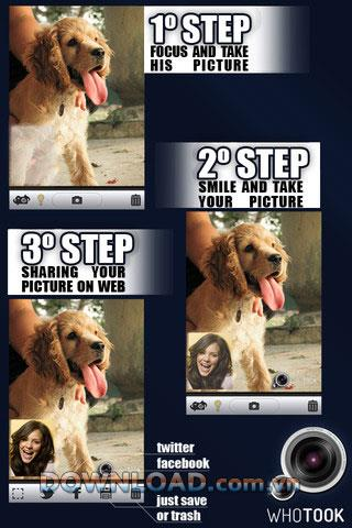 Whotook pour iOS - Collage d'application pour iPhone