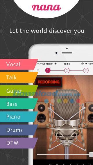 nana für iOS 2.0.2 - Musik auf iPhone / iPad aufnehmen und teilen