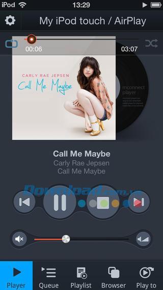 iOS1.1.3用のmconnectPlayer Free-iPhone / iPadの多用途な音楽プレーヤー