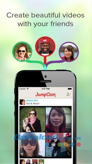 JumpCam for iOS 1.54-iPhone / iPad用のグループビデオを作成するためのアプリケーション