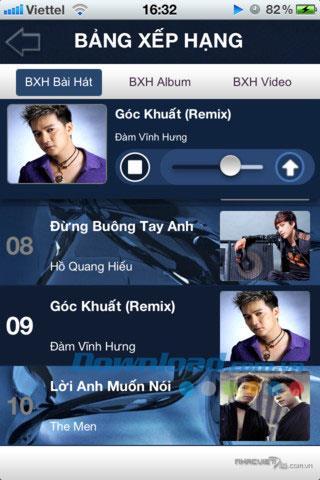 Nhacvietplus pour iOS 1.6 - Écoutez de la musique en ligne