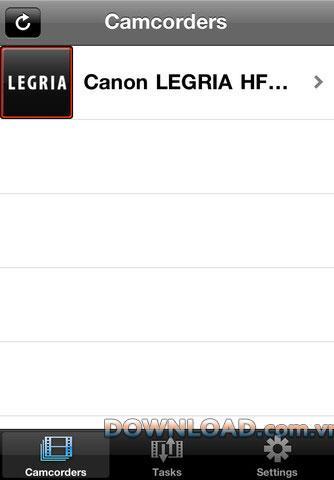 Movie Uploader für iOS - Software-Upload von Videos für Canon-Camcorder