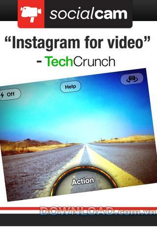 iOS用Socialcamビデオカメラ-iPhone用ビデオ管理アプリケーション