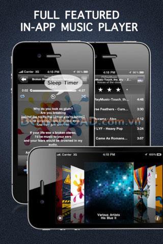 Free Music Downloader Pro pour iOS - Logiciel de téléchargement de musique gratuite pour iOS
