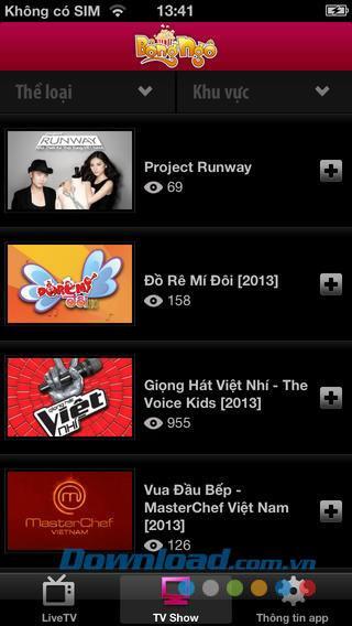 Popcorn für iOS - Anwendung zum kostenlosen Online-Ansehen von HD-Filmen