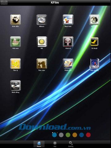 KFilm for iPad 1.0 - Application pour regarder des films