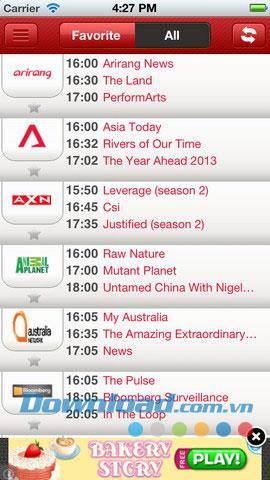 Tvonhand für iOS 1.0.2 - TV-Sendeplan