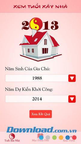 Hausbaualter für iOS 1.0 anzeigen - Wählen Sie das Jahr aus, in dem ein Haus nach Alter gebaut werden soll
