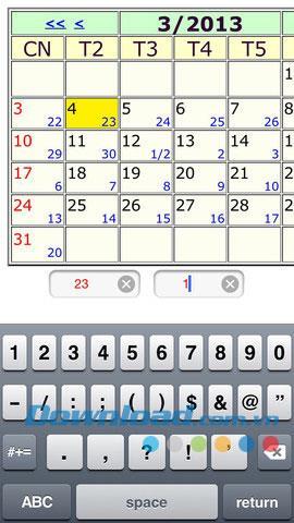 KhongMinh-Kalender für iOS 2.0 - Anwendungen zum Anzeigen des Kalenders von Khong Minh