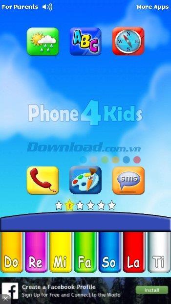 Phone for Kids für iOS 5.9 - Ein lustiger Spieleladen für Kinder auf dem iPhone / iPad