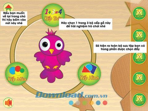 Enfant en bois pour iPad 1.0 - Application pour développer l'intelligence des enfants