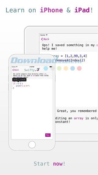 Swifty pour iOS 1.4.1 - Apprenez la programmation Swift sur iPhone / iPad