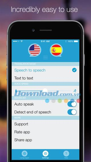 Sprechen und Übersetzen für iOS 3.9 - Übersetzen Sie Text per Spracheingabe auf dem iPhone / iPad