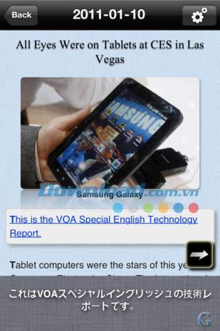 Learning VOA - Technology and Development Lite pour iOS 1.3 - Apprenez l'anglais grâce à des rapports de développement sur iPhone / iPad