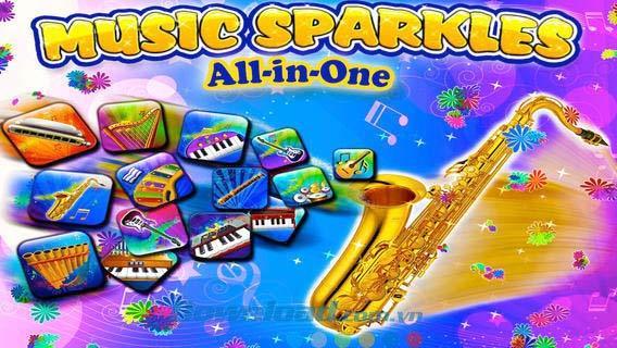 Music Sparkles pour iOS 3.7 - 14 instruments de musique attrayants sur iPhone / iPad