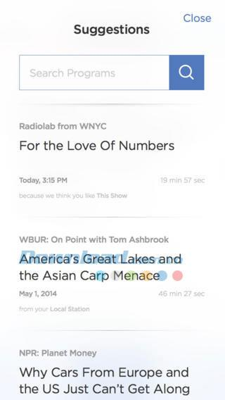 NPR One pour iOS 1.1.3 - Nouveau service de lecture d'actualités sur iPhone / iPad
