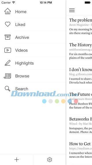 Instapaper pour iOS 7.5.2 - Lisez les journaux hors ligne sur iPhone / iPad