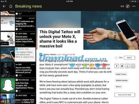 Appy Geek pour iOS 4.1 - Suivez l'actualité technologique sur iPhone / iPad