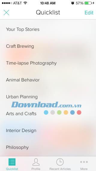 Zite pour iOS 2.6 - Lecteur de nouvelles personnalisé sur iPhone / iPad