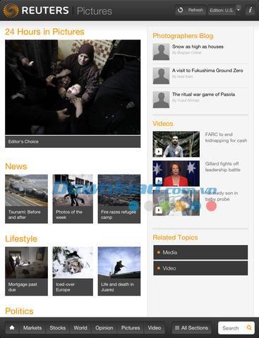 Reuters News Pro pour iPad 2.9.1 - Actualité internationale mise à jour sur iPad