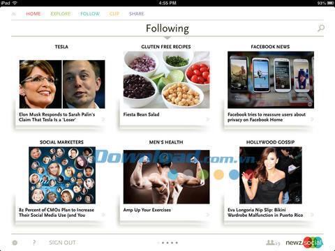 NewzSocial for iPad 1.1.4 - Actualité des réseaux sociaux mise à jour pour iPad