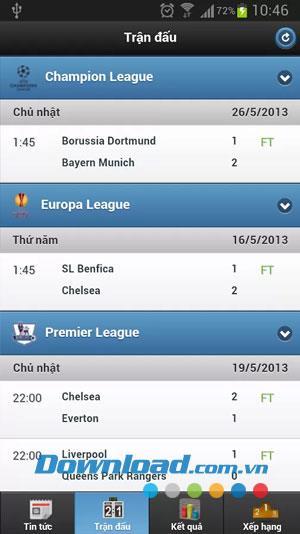 ABongDa für iOS 0.8 - Fußball-App für Smartphones