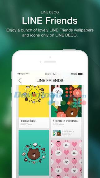 LINE DECO für iOS 2.9.9 - Super cooler Wallpaper- und Icon Store für iPhone / iPad