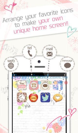Icoron for iOS 1.0.2-iPhone / iPad用のストック壁紙とアプリアイコン