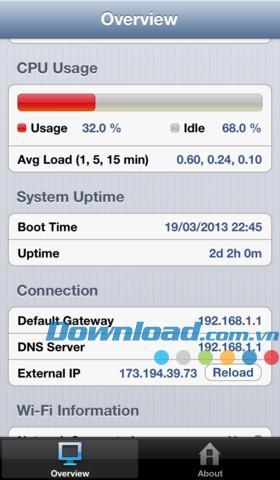 System Status Lite pour iOS 4.0 - Gestion complète des appareils pour iPhone / iPad