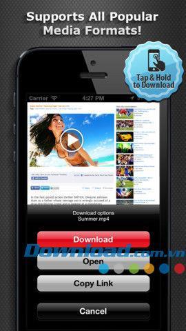 iOS1.1用のDevstarビデオダウンローダー-iPhone / iPad用のビデオダウンロードマネージャー