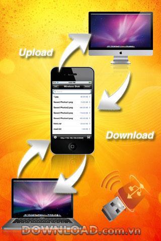Wireless Disk Free for iOS - Outil de partage de fichiers HTTP sans fil pour iPhone