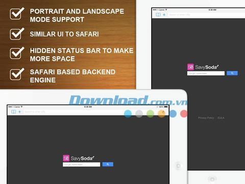 Navigation privée plein écran gratuite pour iOS 3.7 - Navigateur Web privé sur iPhone / iPad