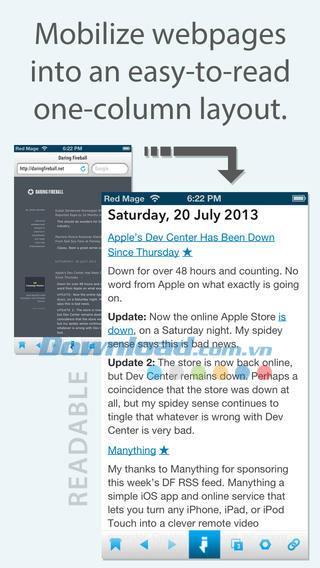 Instabrowser Zero pour iOS 1.0.6 - Lecteur de nouvelles ultra-rapide sur iPhone / iPad