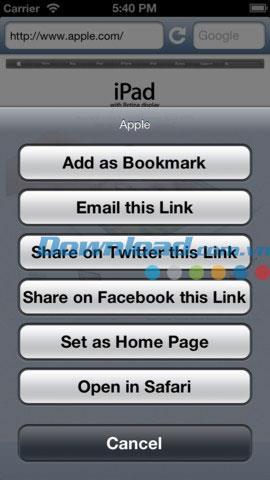 iOS1.3用のフルスクリーンWebブラウザアプリ-iPhone / iPad用のフルスクリーンWebブラウザ