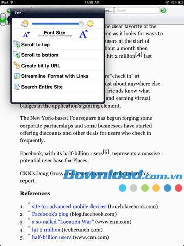 Aarde Web Browser Lite für iPad 1.30 - Ein verbesserter Webbrowser für iPad