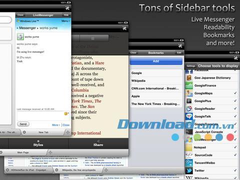 iSide Web Browser Free for iPad1.4-iPad用の多機能Webブラウザ