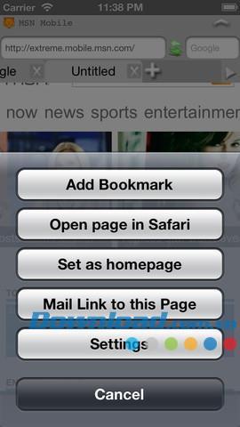 iFox Free pour iOS 1.3 - Navigateur Web multifonction pour iPhone / iPad