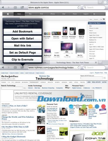 Duet Browser Free für iPad 2.4 - Dualer Webbrowser für iPad