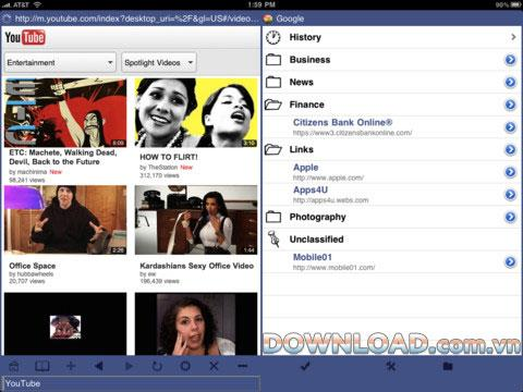 Navigateurs jumeaux pour iPad - Double navigateur pour iPad