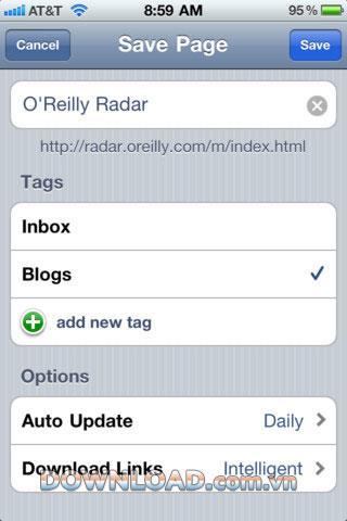 Pages hors ligne pour iOS - Outil pour enregistrer l'intégralité du site Web