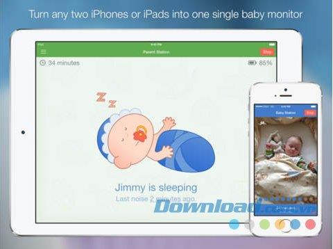 Baby Monitor 3G pour iOS 3.8 - Application de baby-sitting à distance sur iPhone / iPad