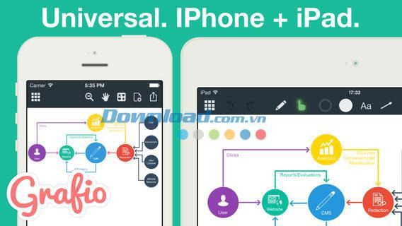 Grafio Lite for iOS 2.7-iPhone / iPadのアイデアチャート管理