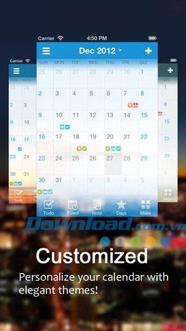 Calendar Pro für iOS 1.0.1 - Kostenloser elektronischer Kalender-Manager für iPhone / iPad