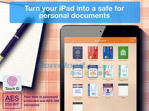 MyPocket pour iOS 1.7 - Stockez et organisez vos données en toute sécurité sur iPhone / iPad