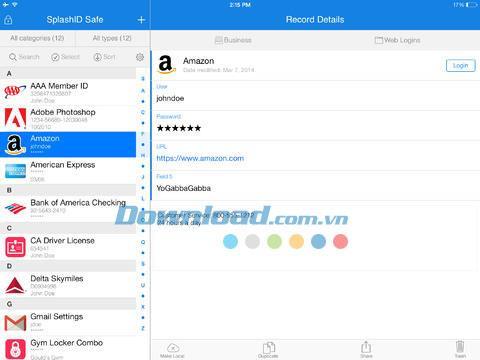 SplashID Safe Password Manager pour iOS 7.2.5 - Une solution de sécurité fiable sur iPhone / iPad