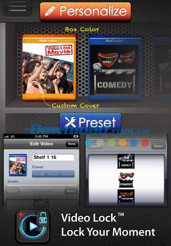 Video Lock Free pour iOS 2.3.1 - Vidéo sécurisée en toute sécurité sur iPhone / iPad