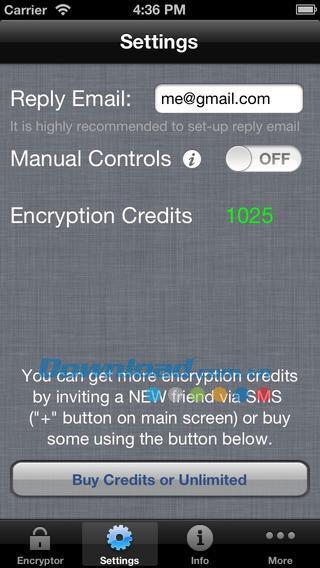 iEncryptText pour iOS 2.9 - Sécurité des messages standard pour iPhone / iPad