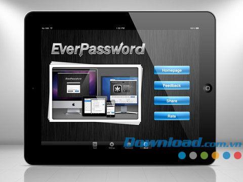 Ever Password HD für iPad 1.8.2 - Verwalten Sie Passwörter und Daten für iPhone / iPad