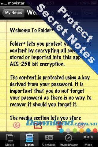 Ordner + für iOS 1.2 - Sichere persönliche Daten für iPhone / iPad